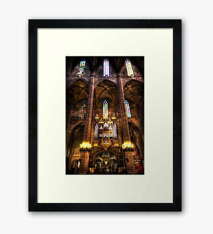 Palma Cathedral Pipe Organ Framed Print