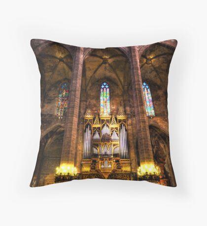 Palma Cathedral Pipe Organ Throw Pillow