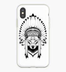 Indian Wolf Headdress iPhone Case