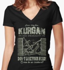 Kurgan Home Demolition Women's Fitted V-Neck T-Shirt