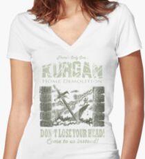 Kurgan Home Demolition Women's Fitted V-Neck T-Shirt