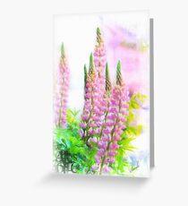 Lupin Digital Painting Greeting Card