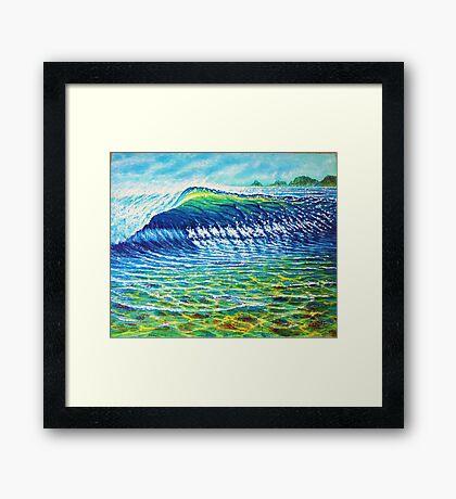 Dolphin Surf Framed Print