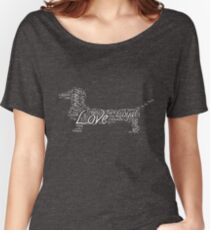 Love my dachshund Women's Relaxed Fit T-Shirt