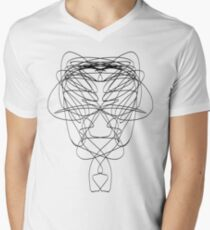 lines 1 Mens V-Neck T-Shirt