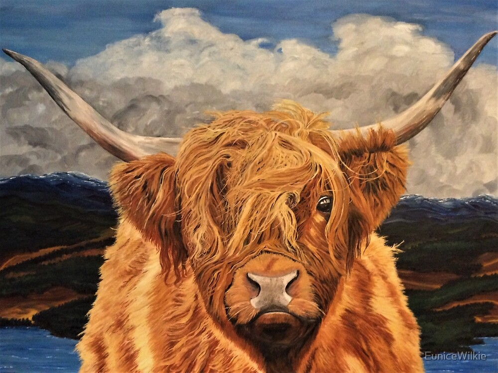Highland Cow - Bedding & Blankets by EuniceWilkie