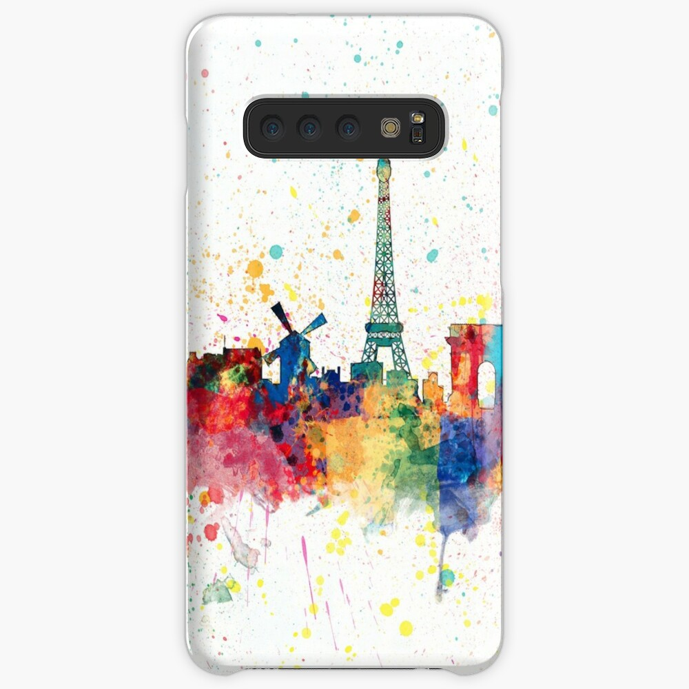 Paris Frankreich Skyline Hülle & Klebefolie für Samsung Galaxy