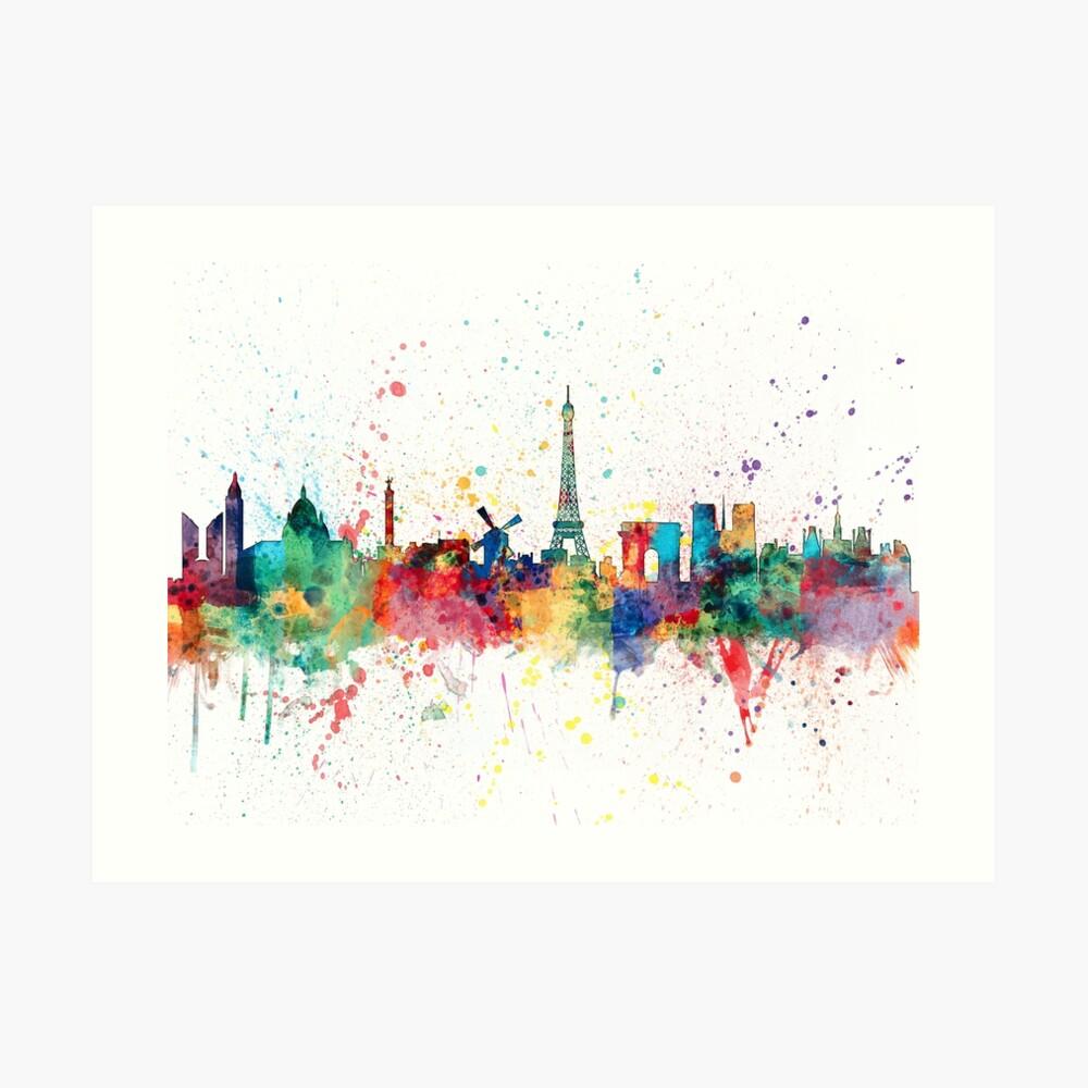 Paris Frankreich Skyline Kunstdruck