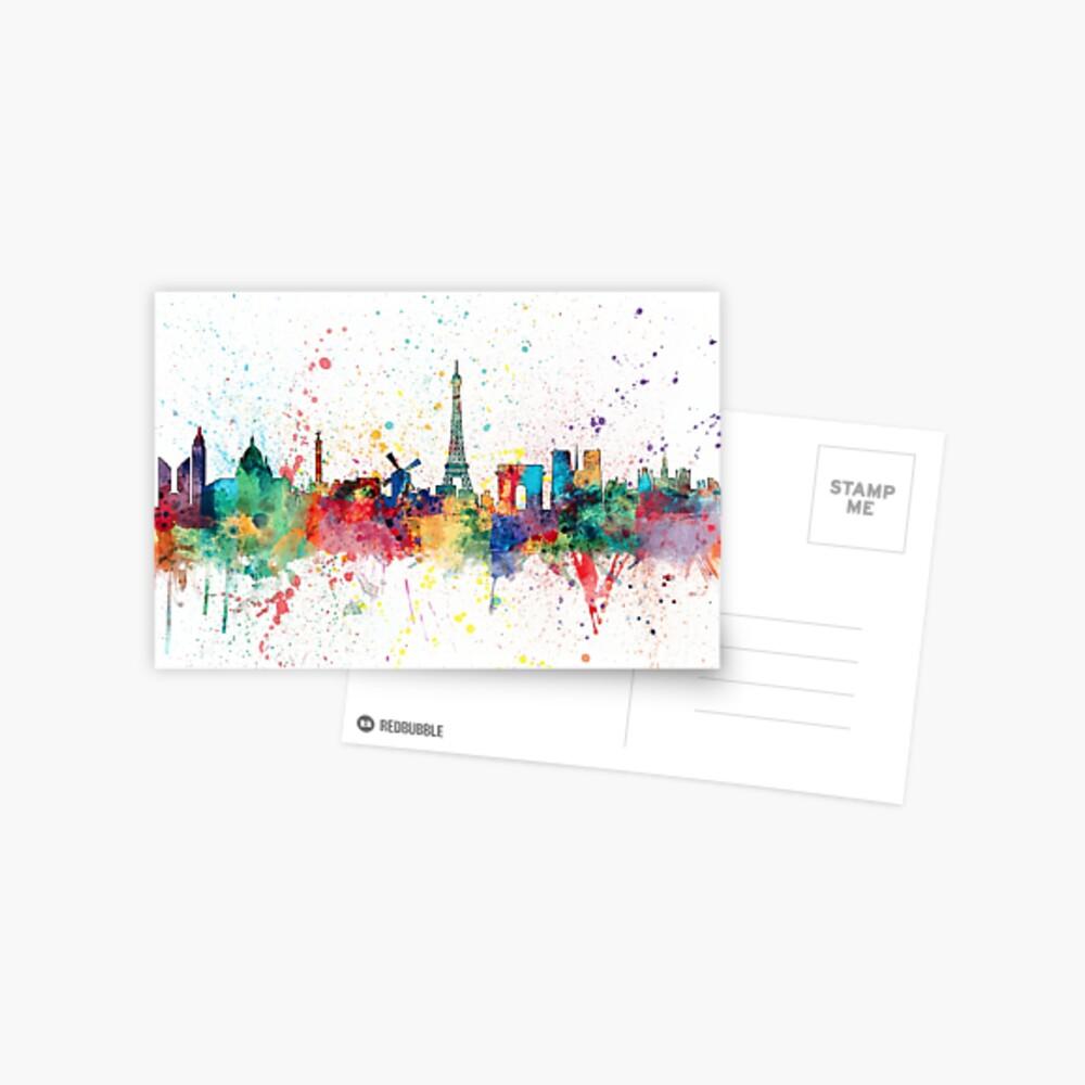 Paris Frankreich Skyline Postkarte
