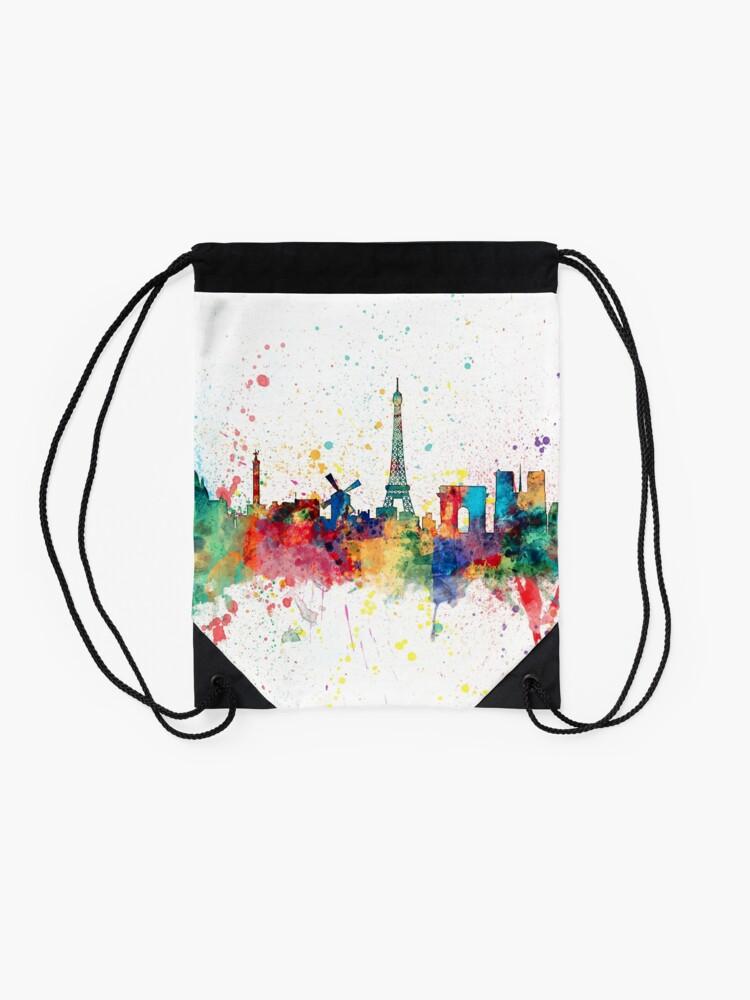 Alternative Ansicht von Paris Frankreich Skyline Turnbeutel