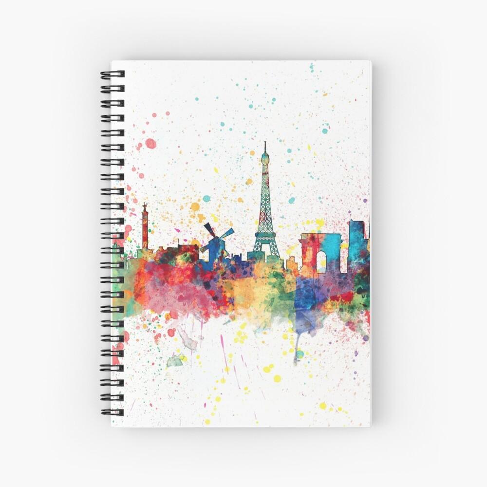 Paris Frankreich Skyline Spiralblock