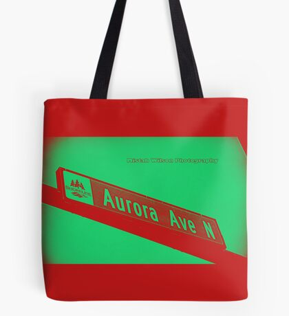 Aurora Avenue North Cherry Watermelon by MWP Tote Bag