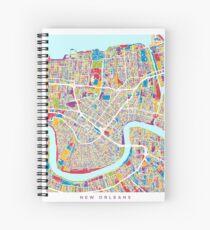 Cuaderno de espiral Mapa de Nueva Orleans
