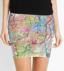 San Francisco City Street Map Mini Skirt