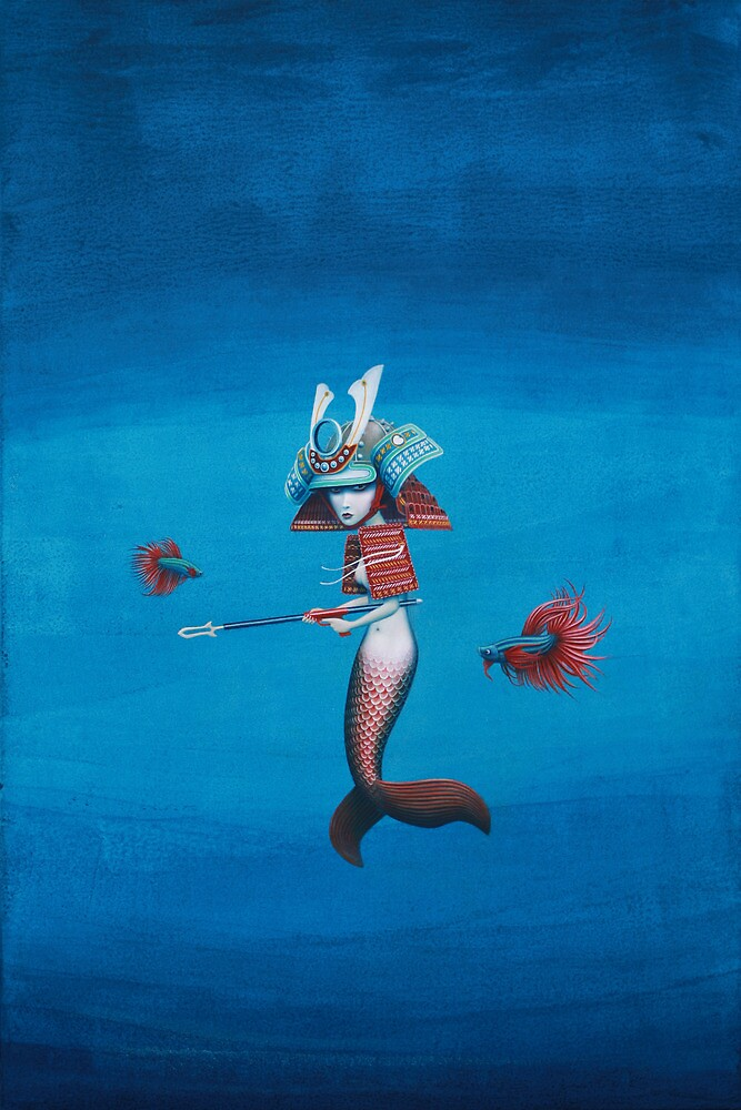 Samurai Mermaid by Graham Bliss