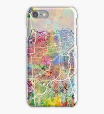San Francisco City Street Map iPhone Case/Skin