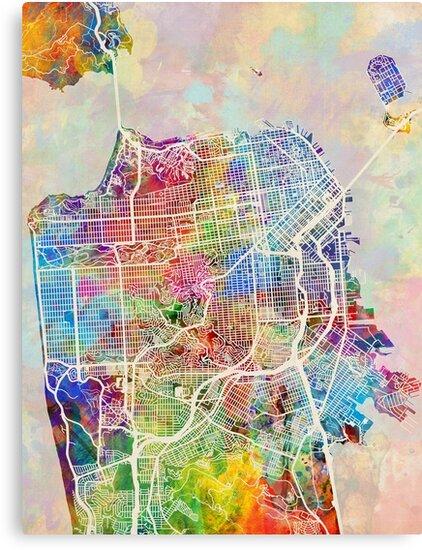 San Francisco City Street Map\
