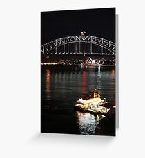 Icons at night Greeting Card