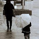 Umbrellas on Quinpool Road II by Lee Donavon Hardy