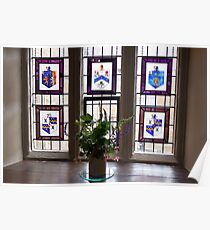 Canons Ashby House Staircase Tower Window Poster