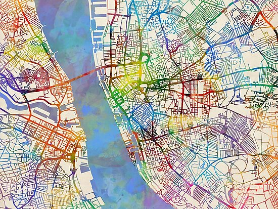 Liverpool England Street Map\