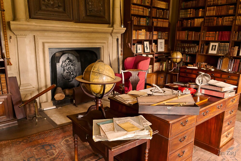 Canons Ashby House The Book Room by James  Key
