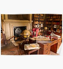 Canons Ashby House The Book Room Poster