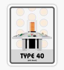 Type 40 (old skool) Sticker
