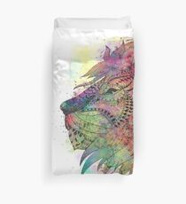 Awesome tribal watercolor lion design Duvet Cover