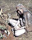 Woman in mourning Bilas (Dress), Goroka, Papua New Guinea  by Carole-Anne
