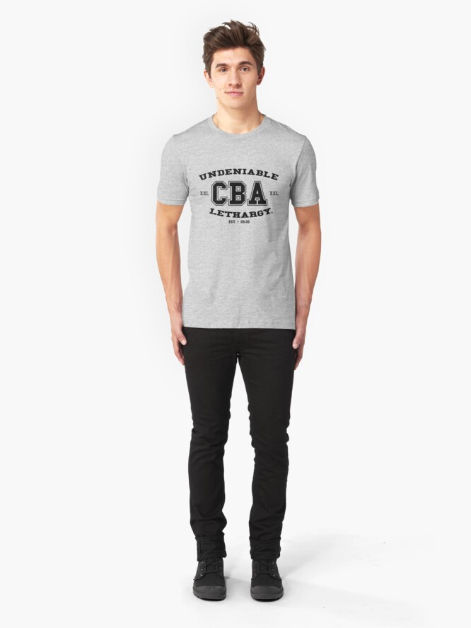Alternate view of CBA-University (for light shirts & sticker)  Slim Fit T-Shirt