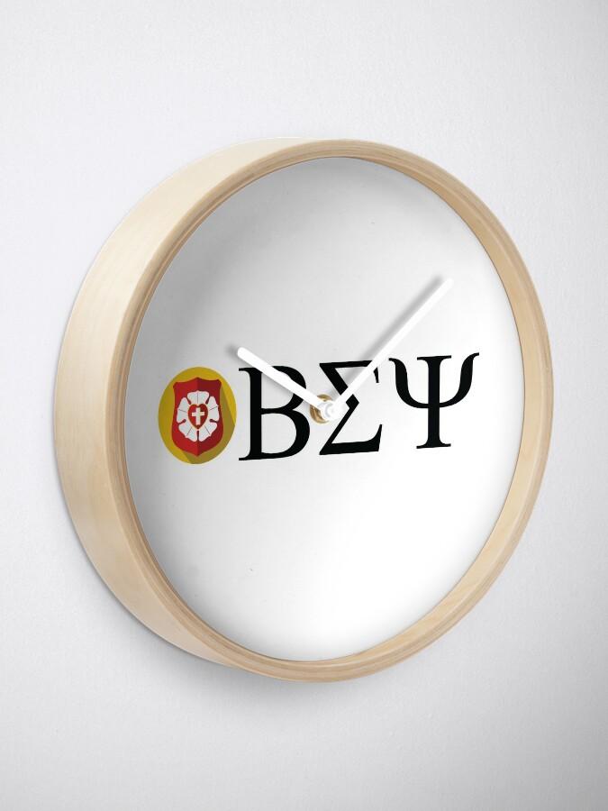 Alternate view of Beta Sigma Psi - badge Clock