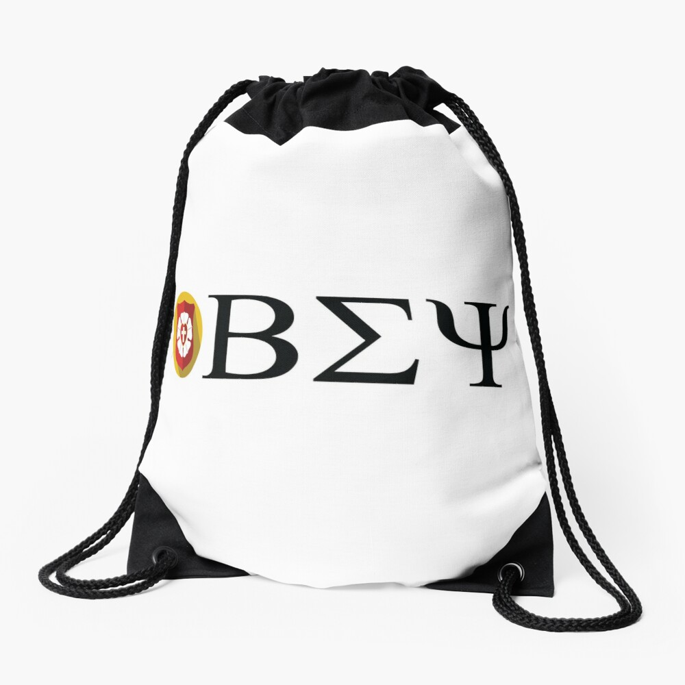 Beta Sigma Psi - badge Drawstring Bag