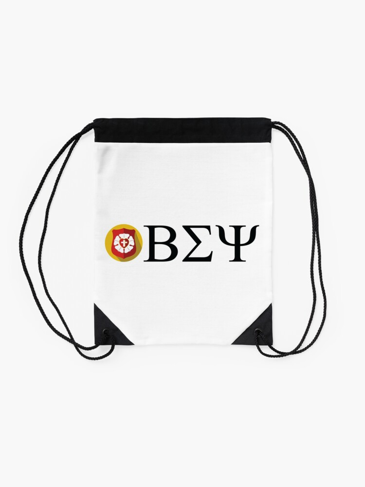 Alternate view of Beta Sigma Psi - badge Drawstring Bag