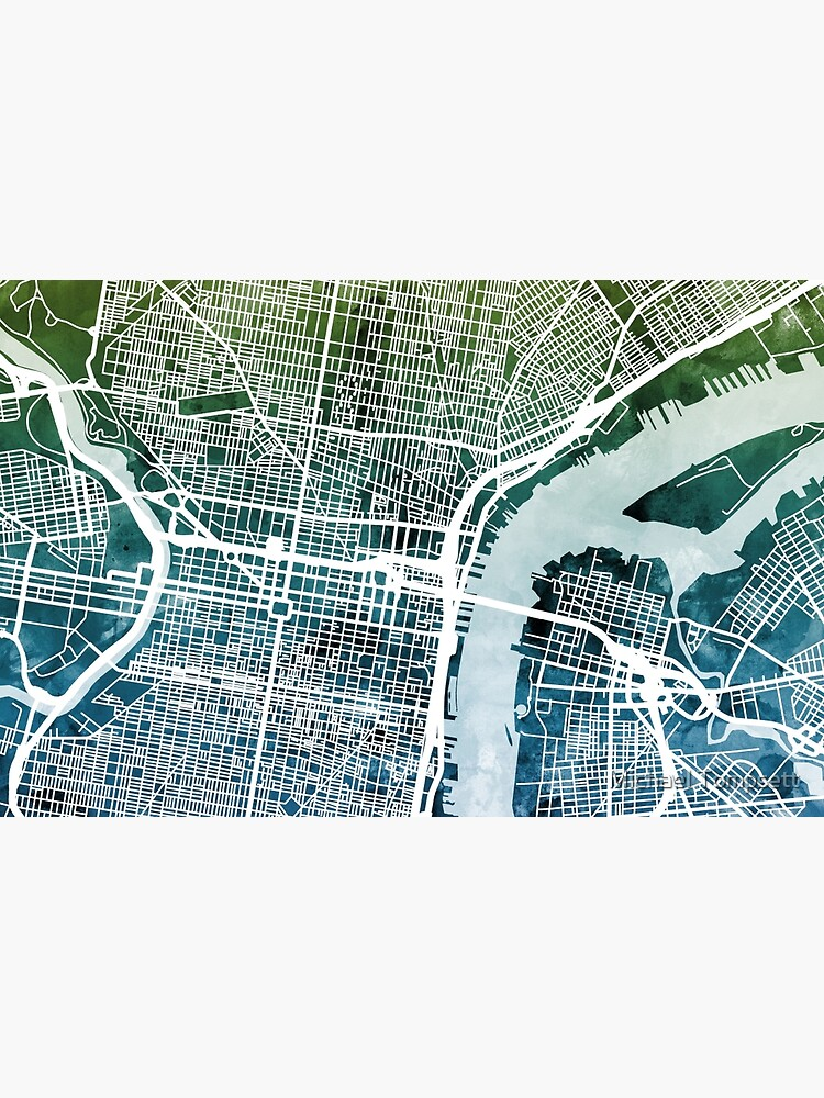 Philadelphia Pennsylvania Stadtplan von ArtPrints