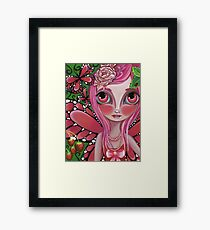 """""""Strawberry Butterfly Fairy"""" Framed Print"""