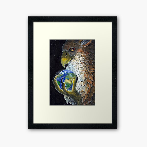 Gryphon Tarot - The World Framed Art Print