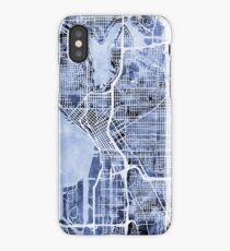Seattle Washington Street Map iPhone Case/Skin