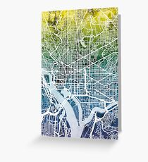 Washington DC Street Map Greeting Card