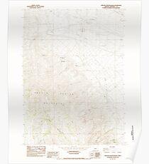 USGS Topo Map Oregon Oregon Canyon Ranch 280997 1982 24000 Poster