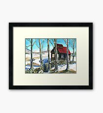 Maple Sugaring in Vermont Framed Print