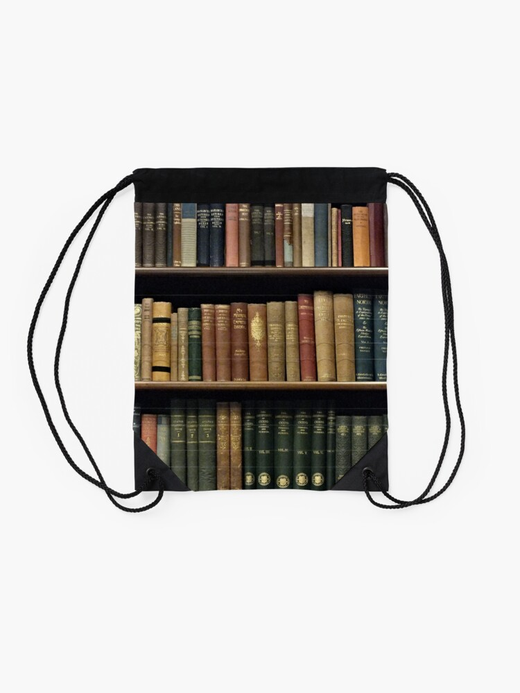 Alternate view of Endless Library (pattern) Drawstring Bag