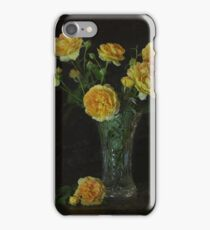 Yellow David Austin Roses iPhone Case/Skin