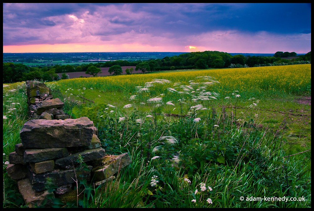 A Sunset View From Parbold Hill by Adam Kennedy