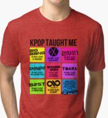 Camiseta de tejido mixto KPOP ME ENSEÑÓ