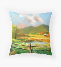 """Poor Valley"" Southwest Virginia Throw Pillow"