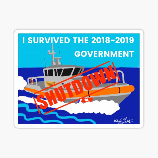 I Survived The 2018-2019 Government Shutdown Sticker
