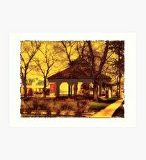 Depot Park Gazebo Art Print