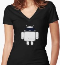 British Racing Droid Women's Fitted V-Neck T-Shirt