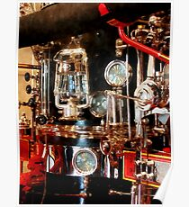 Lantern and Gauges on Fire Truck Poster